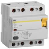 Выключатель дифференциального тока УЗО ВД1-63 4п. 25А/30mА IEK