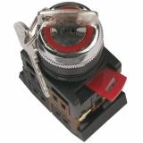 Переключатель АКS-22чёрный с ключом на 2 пол.IEK