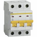 Автоматический выключатель IEK ВА 47-29  3-п. 25А (D)