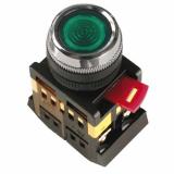 Кнопка ABLFS-22 синий d22мм неон/240В 1з+1р IEK