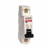 Автоматический выключатель ВА47-63 1-п. 6А (С) 4,5кА  EKF