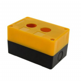 Корпус КП 102 пласт. 2 кнопки желтый EKF