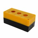 Корпус КП 103 пласт. 3 кнопки желтый EKF