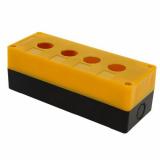 Корпус КП 104 пласт. 4 кнопки желтый EKF