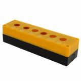 Корпус КП 106 пласт. 6 кнопок желтый EKF