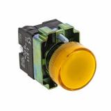 Лампа сигнальная BV65 желт. с подсветкой EKF