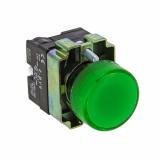 Лампа сигнальная BV63 зелен. с подсветкой EKF