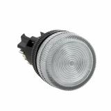 Лампа сигнальная ENS-22 бел. с подсветкой 220В EKF