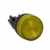 Лампа сигнальная ENS-22 желт. с подсветкой 380В EKF