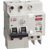Дифференциальный автомат АД-2 40А/30мА (хар-ка С, тип АС) 4,5кА EKF