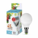 Лампа светодиодная LED-Р45-ШАР-standard  5.0Вт 220В Е14 4000К 400Лм ASD