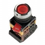 Кнопка ABLFS-22 бел. с подсветкой NO+NC 380В EKF