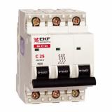 Автоматический выключатель 3-п. 2,5А EKF (mcb4763-3-2.5D)