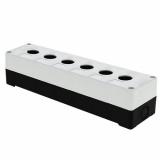 Корпус КП 106 пласт. 6 кнопок белый EKF (cpb-106-w)