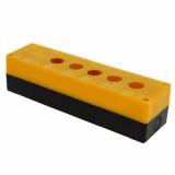 Корпус КП 105 пласт. 5 кнопок желтый EKF (cpb-105-о)