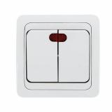 """""""Лондон"""" выключатель 2-кл 10А с индикатором белый EEV10-123-10 EKF"""