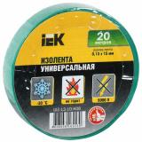 Изолента 0,13х15мм 20м  зеленая IEK