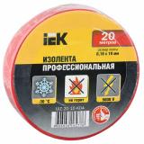 Изолента 0,18х19мм 20м  красная IEK