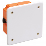 Коробка КМ41022 распаячная 92х92x45мм для полых стен (с саморезами, пластиковые лапки, с крышкой ) IEK