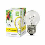Лампа накаливания ШАР P45 40Вт 230В Е27 прозрачный 380Лм ASD