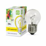 Лампа накаливания ШАР P45 60Вт 230В Е27 прозрачный 630Лм ASD