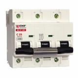 Автоматический выключатель 3-п. 10А (ВА 47-100) EKF (mcb47100-3-10D)