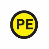 Наклейка РЕ (1шт) (d20мм) EKF