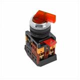 Переключатель ANLC-22 3P красный с подсветкой 220В EKF