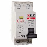 Дифференциальный автомат АД-32 50А/30мА (хар-ка С, тип АС) 3кА EKF