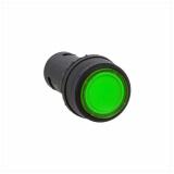 Кнопка SW2C-10D зеленая с подсветкой 220В EKF