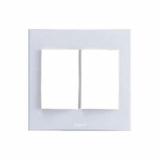 Рамка 2-я для выкл. бел. Anam Legrand Zunis 710151