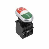 "Кнопка LA32HND красно-зеленая ""Пуск-Стоп"" с подс. NO+NC EKF"