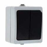 Венеция выключатель 2-кл. 10А IP54 серый EKF