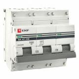 Автоматический выключатель 3-п. 10А (ВА 47-100) EKF (mcb47100-3-10С)