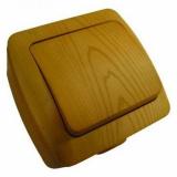 Выключатель 1 кл. бук ALSU 504-010700-200