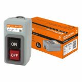Выключатель кнопочный с блокировкой ВКН-306 3-п. 6А 230/400В IP40 TDM