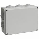 Коробка КМ41244 распаячная для о/п 190х140х070P55 IEK (RAL7035, 10 гермовводов)