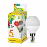 Лампа светодиодная LED-Р45-ШАР 5.0Вт 220В Е14 3000К 400Лм ASD
