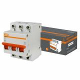 Автоматический выключатель ВА47-63 3Р 63А 4,5кА х-ка С TDM