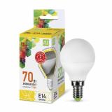 Лампа светодиодная LED-Р45 ШАР-standard 7.5Вт 230В Е14 3000К 675Лм ASD