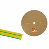 Термоусаживаемая трубка ТУТнг 16/8 желто-зеленая (100м/ролл) TDM