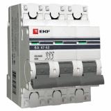 Автоматический выключатель ВА 47-63 3-п. 6А (C) PROxima  EKF (mcb4763-3-06C-pro)