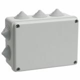 Коробка КМ41242 распаячная для о/п 150х110х70мм IP55 IEK (RAL7035, 10 гермовводов)