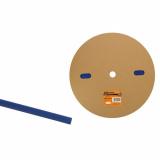 Термоусаживаемая трубка ТУТнг 8/4 синяя  (100м/ролл) TDM