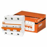 Автоматический выключатель ВА 47-100 3Р 16А 10кА х-ка С TDM
