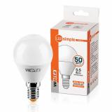 Лампа LED WOLTA ШАР 25S45GL 5,5W 4000К Е14