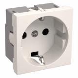 Розетка с з/к 2к (на 2 модуля) Праймер белая IEK РКС-20-30-П-K