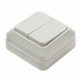 7023-W Выключатель накл 2кл BOLLETO белый IN HOME (1200)