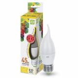 Лампа сд LED-СВЕЧА на ветру-standard 5 Вт 160-260В Е27 3000К 400Лм ASD