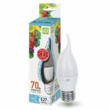 Лампа сд LED-СВЕЧА на ветру-standard 7.5 Вт 160-260В Е27 4000К 675Лм ASD